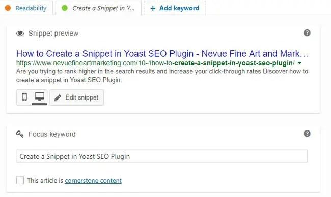 How to Create a Snippet in Yoast SEO Plugin