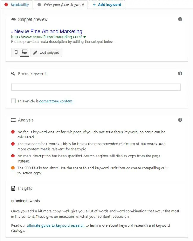 How to Review Yoast Analysis on Art Blog Posts