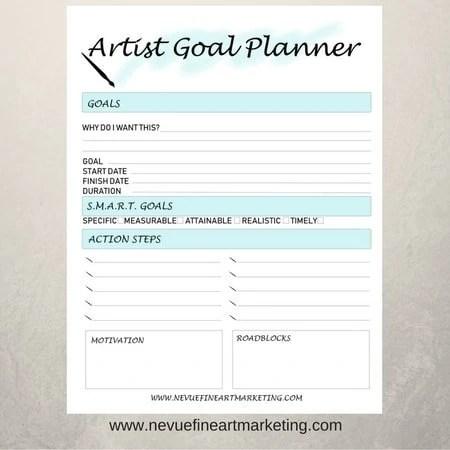 Artist Goal Planners in Light Blue