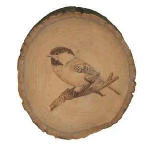 bird woodburning - Nevue Fine Art Marketing