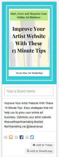 Tailwind SmartLoop Helps To Drive More Traffic To Your Artist Blog