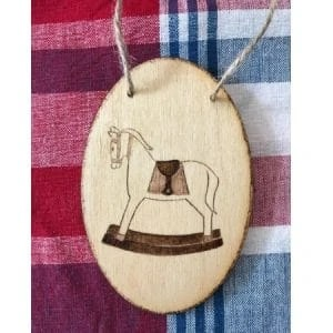 Rocking Horse Wood Ornament