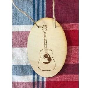 AcousticGuitar Wood Burning Plaque
