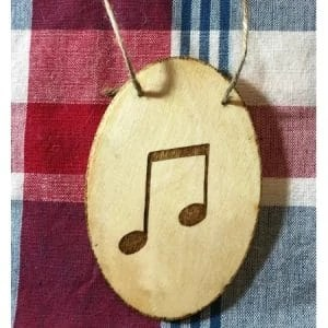 Musical Note Eighth Notes Ornament