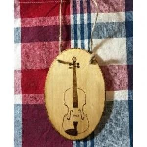 Violin Wood Ornament