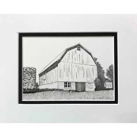 Wisconsin Rustic Barn - Working Til The Job Gets Done Original Drawing