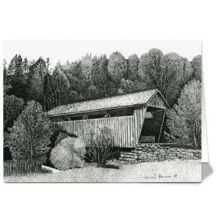 12 West Virginia Covered Bridge Greeting Cards