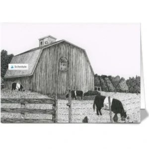 12 Michigan Farm With Oreo Cows Greeting Cards
