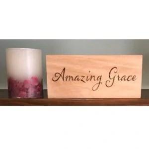 Amazing Grace Rustic Wood Sign