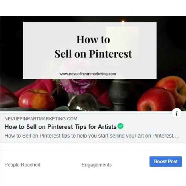 Facebook Boost Posts