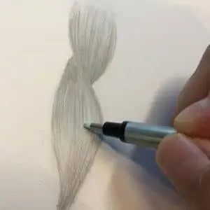 How To Draw Realistic Hair With Graphite Pencil