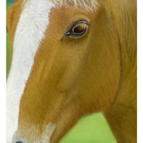 Sunny Chestnut Horse Pastel Painting Portrait