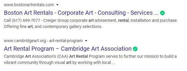 art rental in Ma