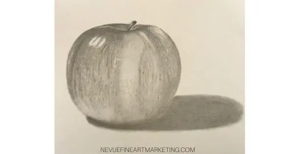 finished apple drawing