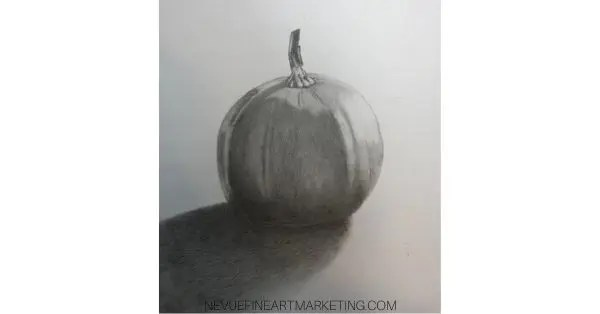 finished pumkin drawing