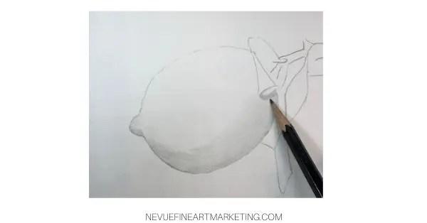 lemon drawing
