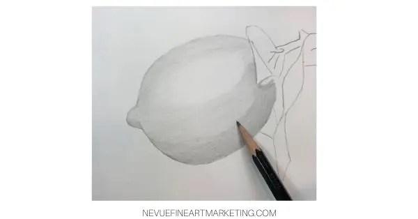 lemon drawing in progress