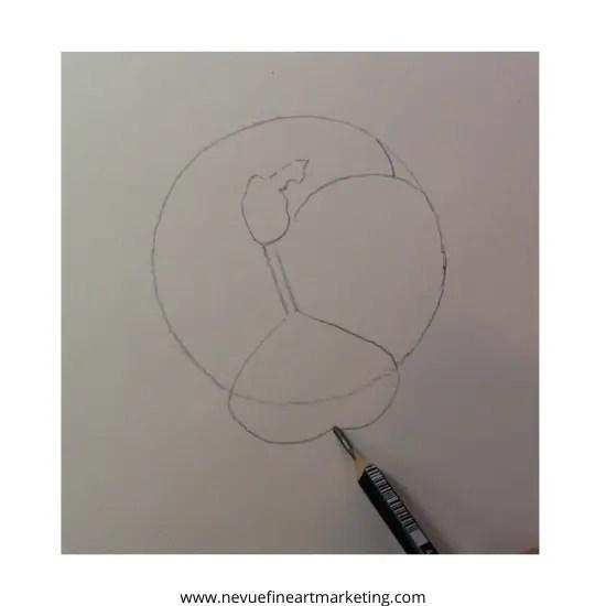 draw upside down heart