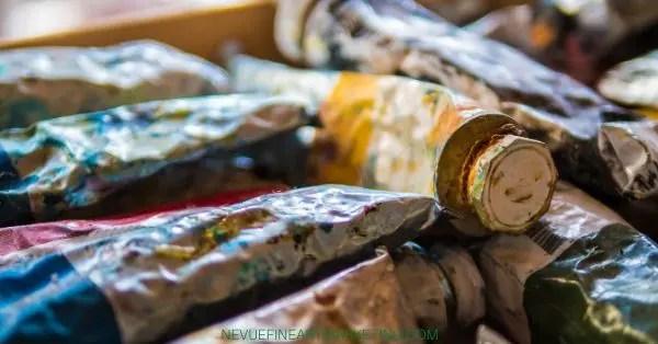 oil paint tubes