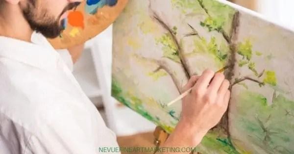 artist painting trees