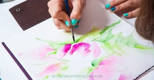 artist practicing painting