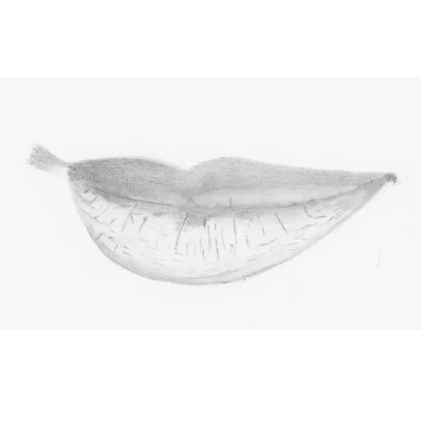 Drawing lips step 7