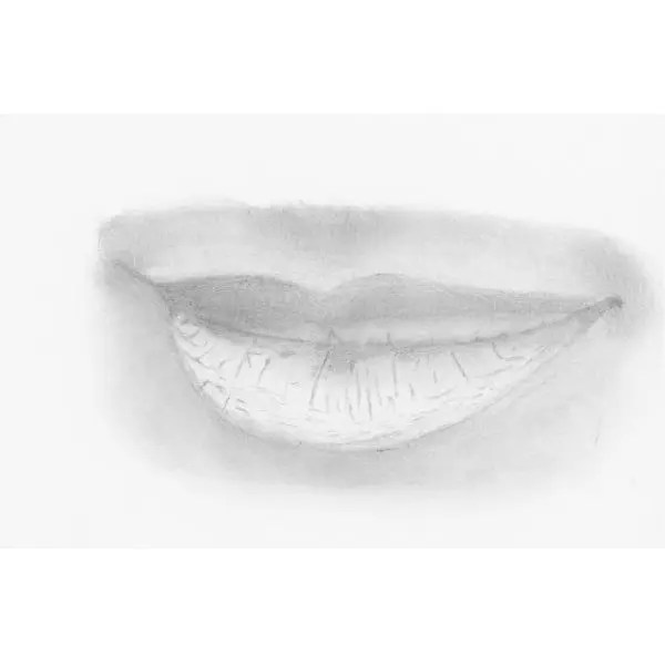 Add shadow around lips drawing