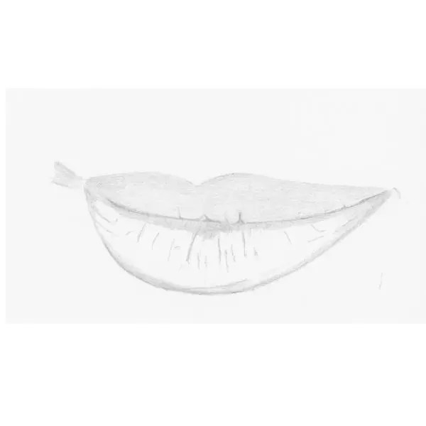 lips drawing step 4