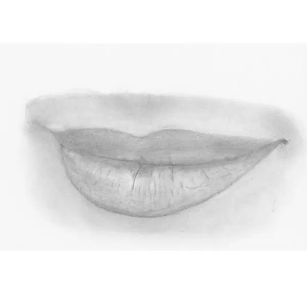 draw lips step 9