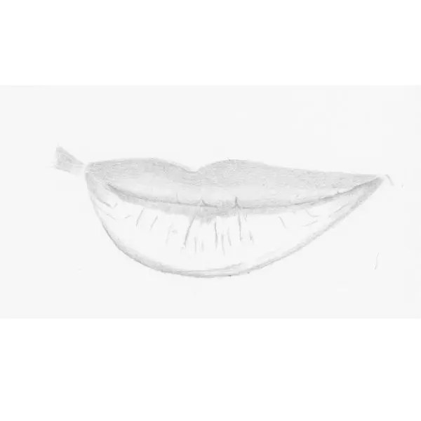 step by step lips drawing