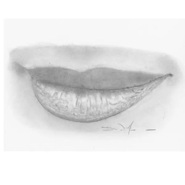 draw lips step by step