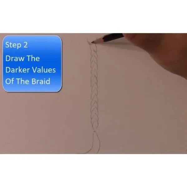 drawing braids dark values