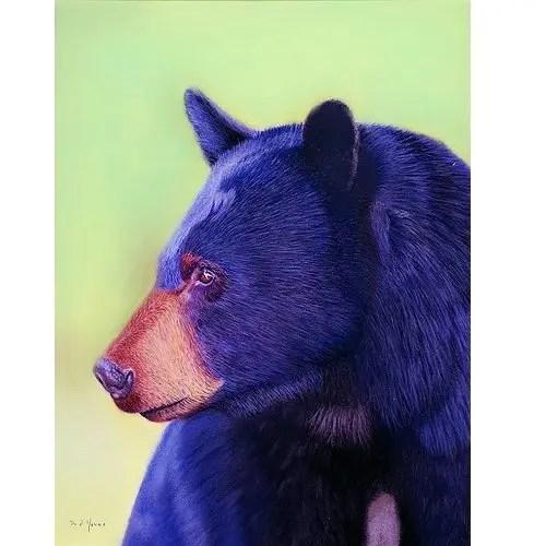 Black Bear Pastel Painting
