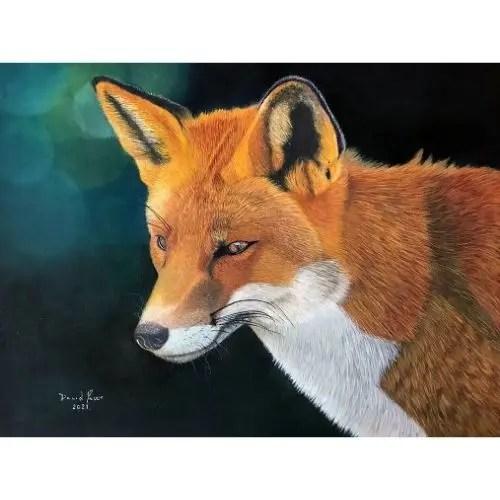 Fox Pastel Painting Wildlife Art