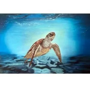 Sea Turtle Pastel Painting