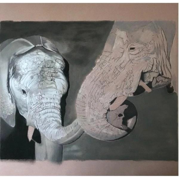 draw mother elephant