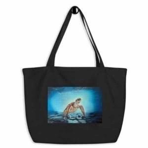 Sea Turtle Large Organic Tote Bag