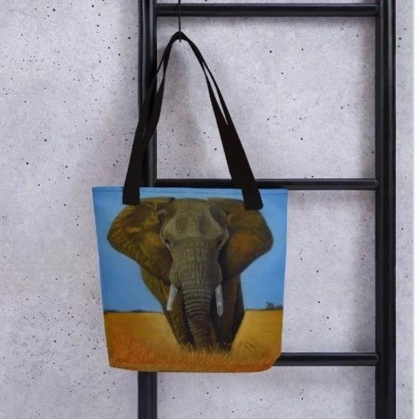 Passing Through Elephant Tote bag