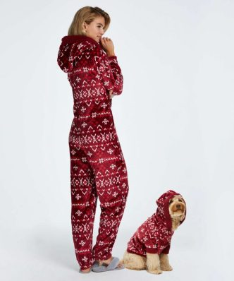 Kerst Onesie Dames Rood