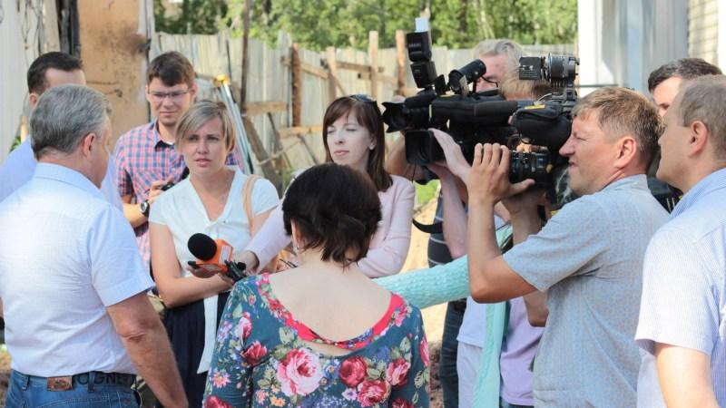 Новостройки на переулке Лазурном. 02 августа 2017 года