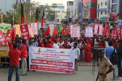 NDLF demo in solidarity with Maruti workers