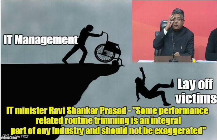 Layoffs - Ravi Shankar Prasad View