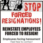 NDLF Poster Campaign Against Forced Resignations