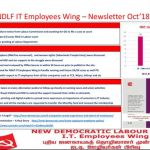 NDLF IT Employees Wing – News Letter October 2018