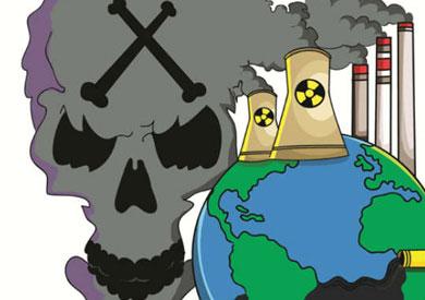 تلوث البيئة رسم