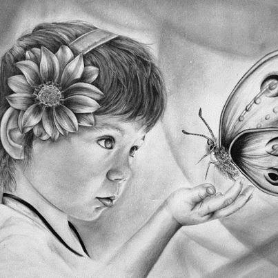 صور مرسومة بالقلم الرصاص اجمل بنات
