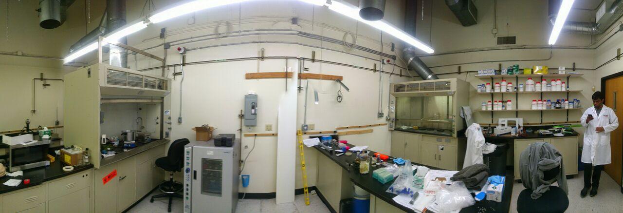 Panoramic photo of the lab