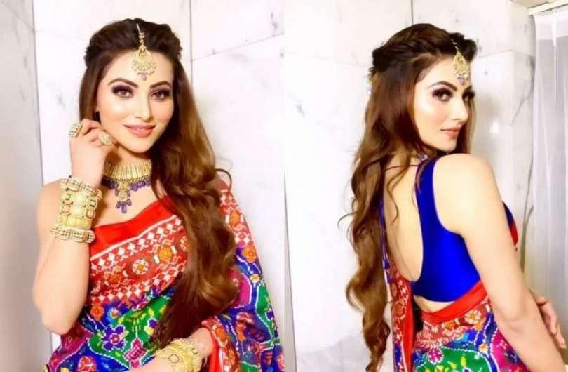 Urvashi Rautela wore a Gujarati Patola sari worth 58 lakhs, pictures went viral