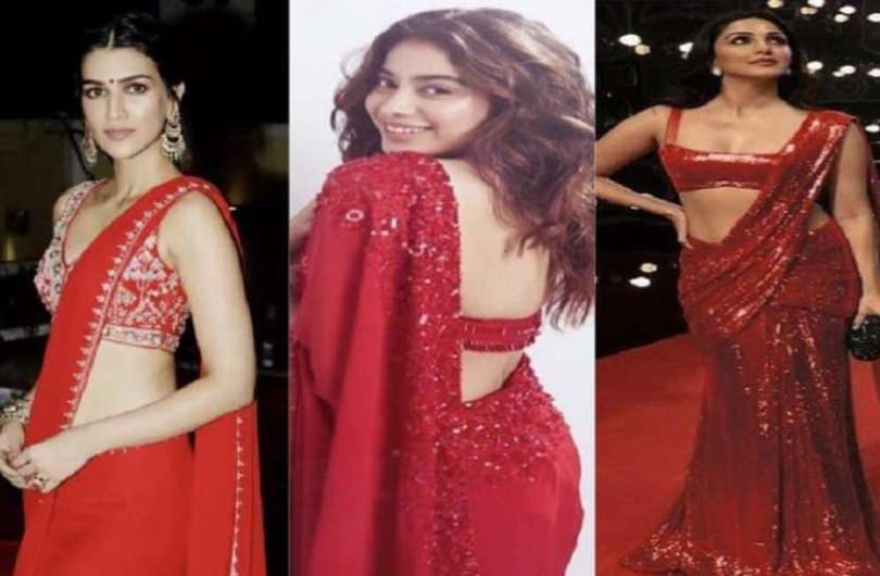 Hot And Beautiful Photos Of Bollywood Actresses In Red Saree
