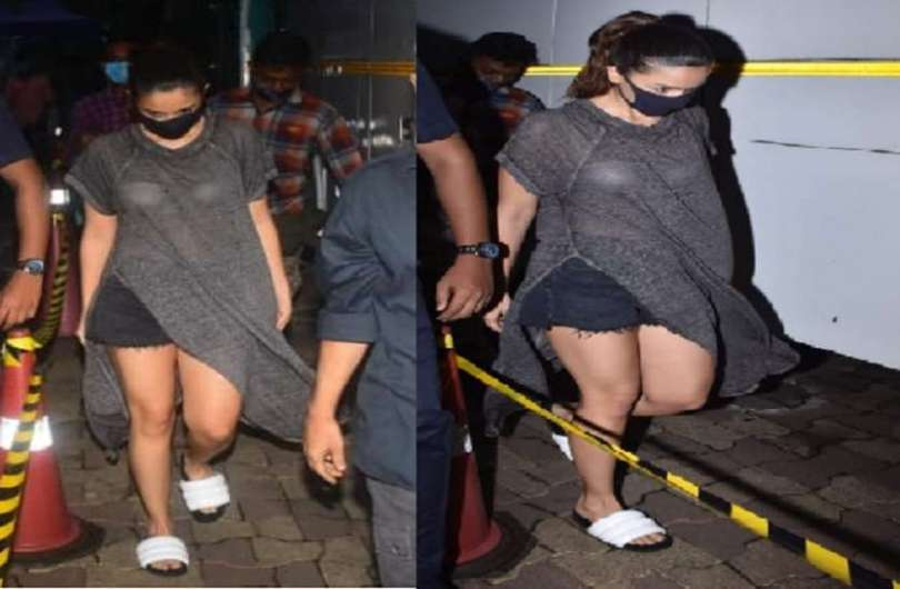Alia Bhatt was spotted in a transparent dress late at night, users started trolling after seeing the look